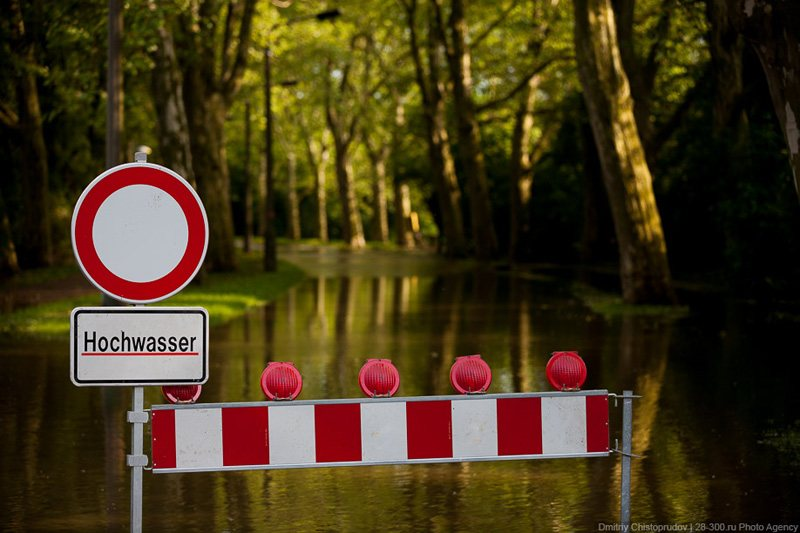 Driveway closed due to flooding, © AirPano
