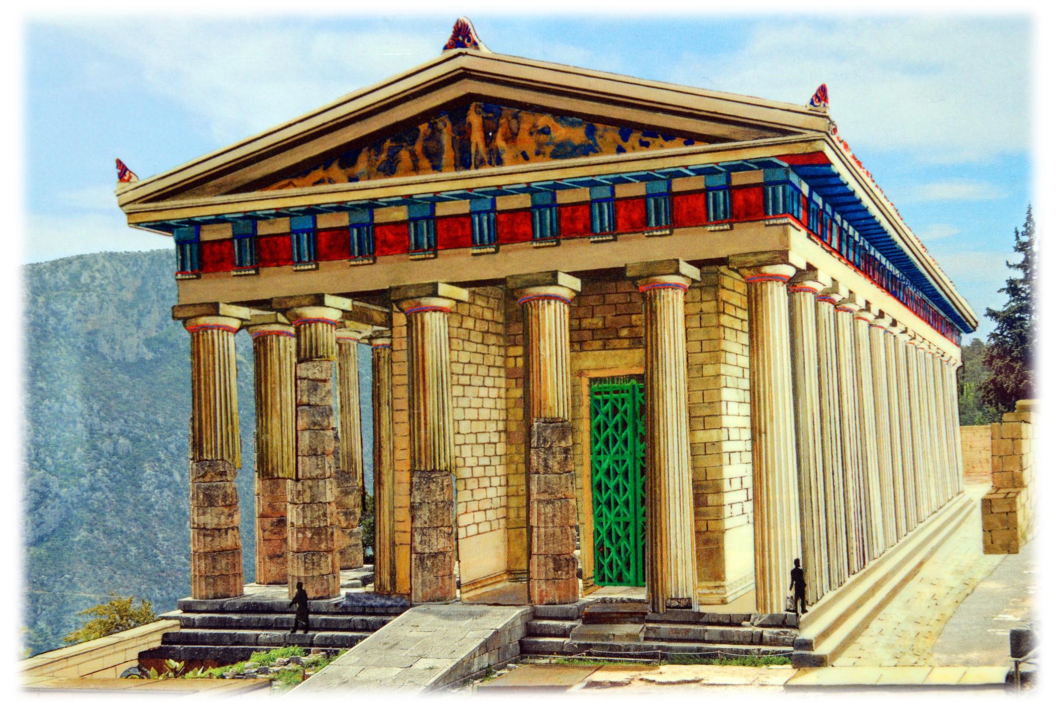 Apollo temple delphi reconstruction delphi pictures for Apollon greek and european cuisine