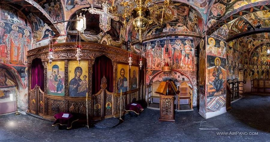 Inside the Holy Trinity Monastery