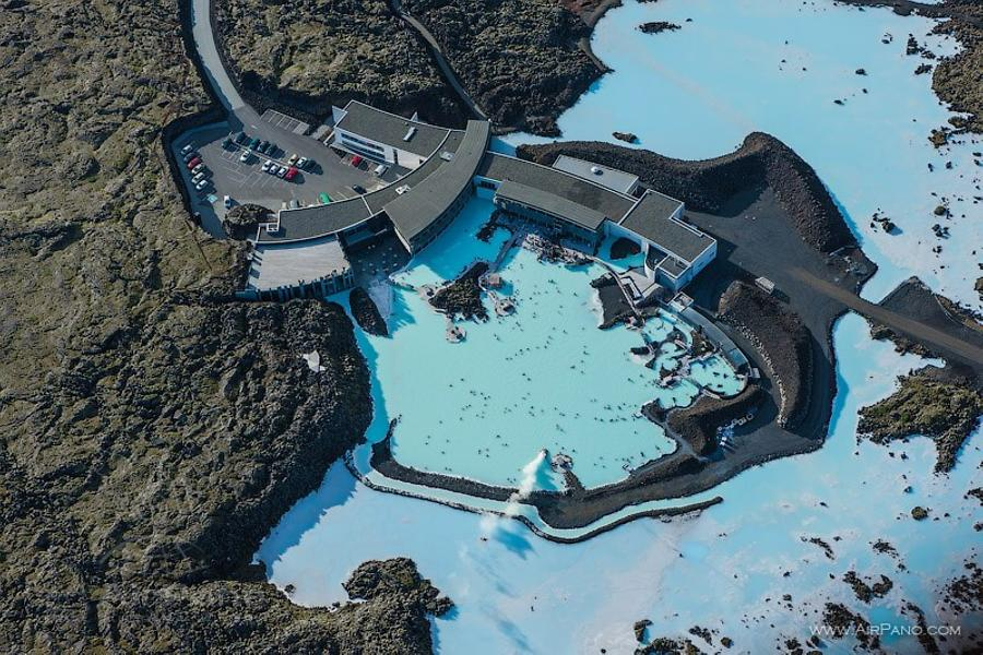 aerial view of Blue Lagoon