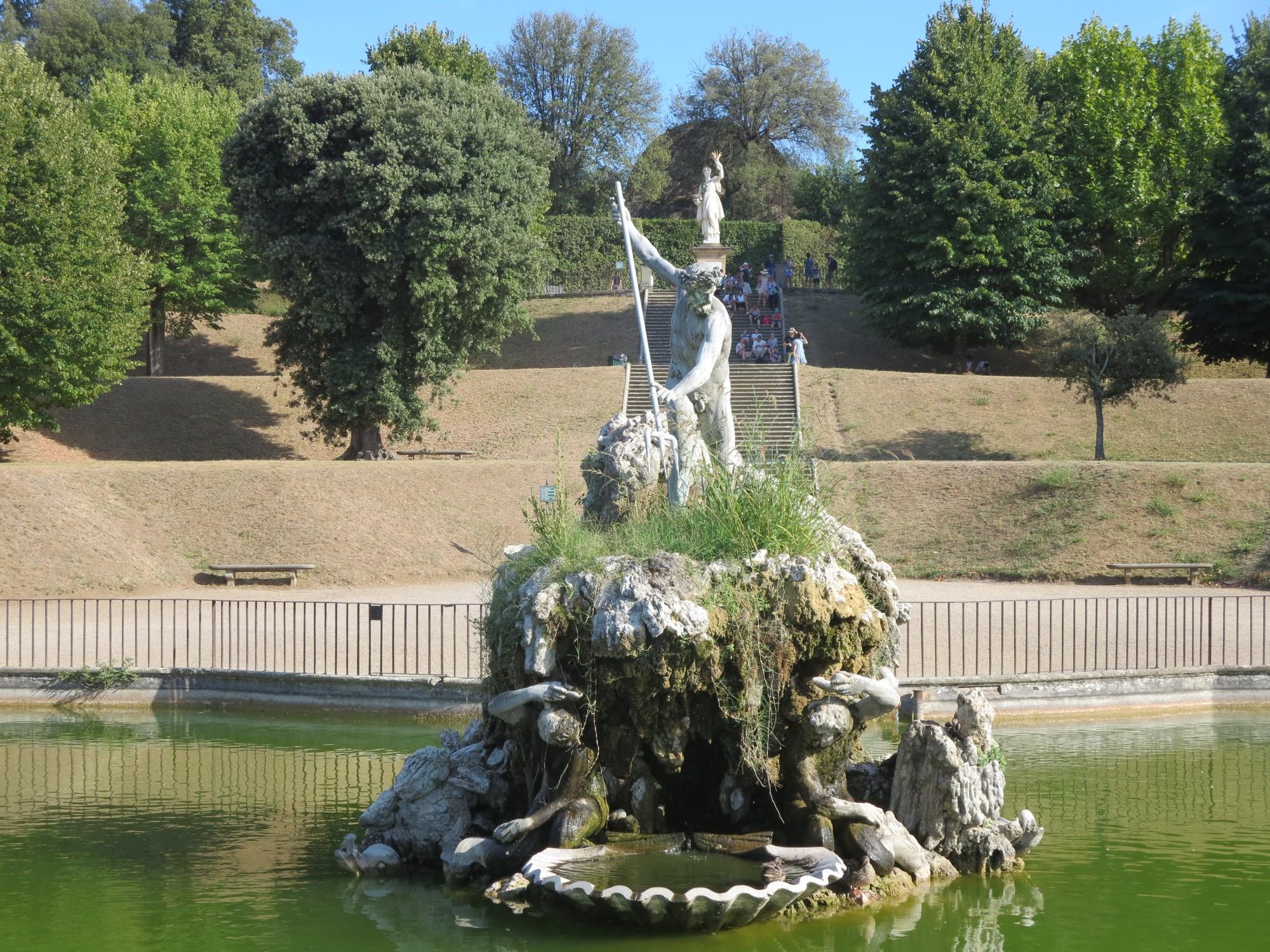 Florence   Boboli Gardens; Fountain Of Neptune
