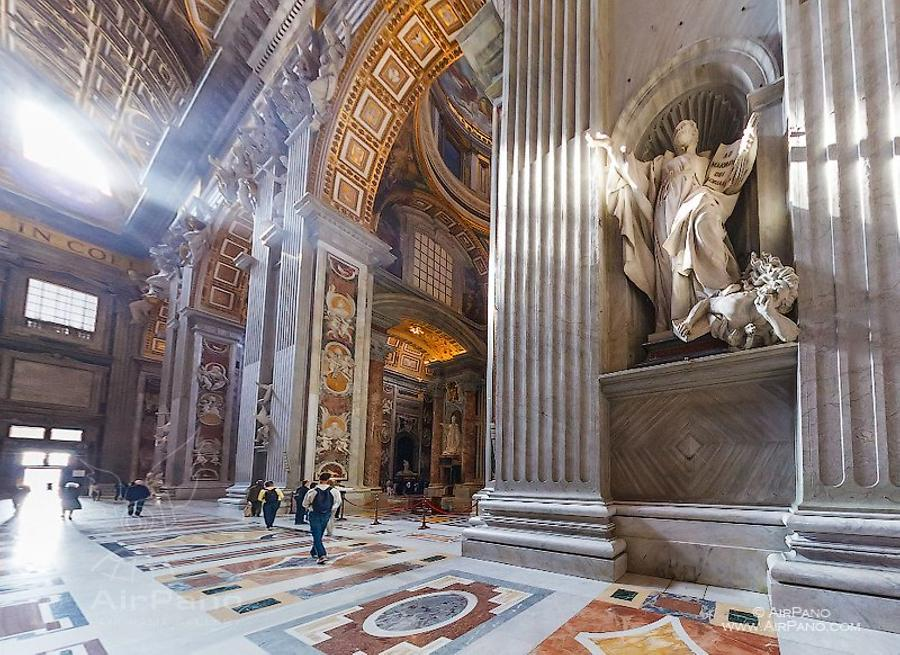 Interior of St Peter_s Basilica