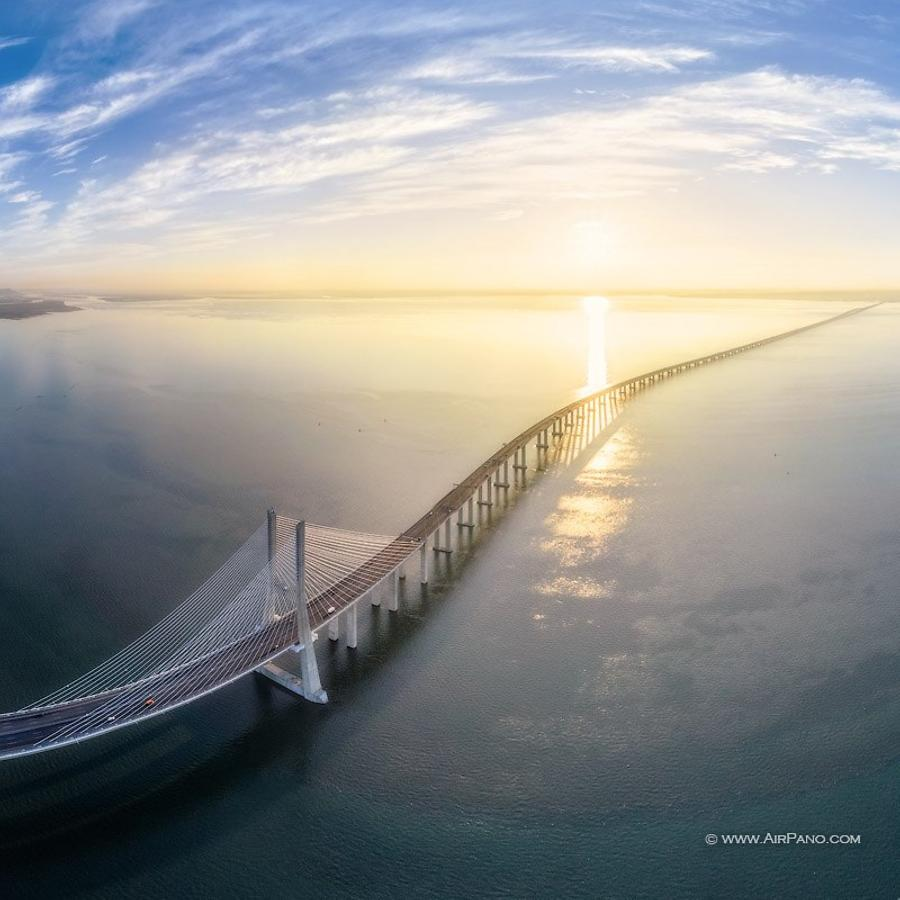 Vasco da Gama Bridge, the longest in Europe
