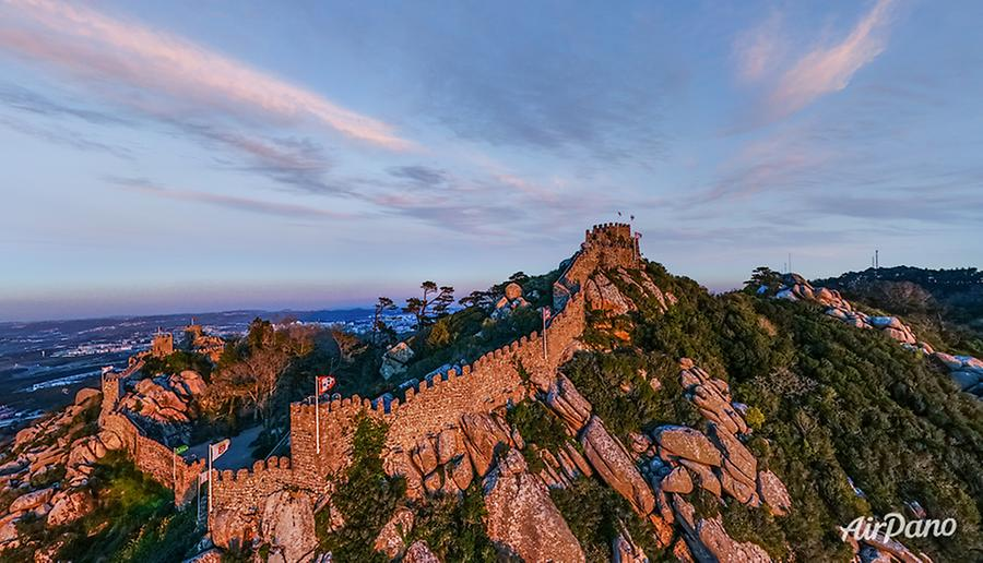 Castle of the Moors (Castelo dos Mouros). Sintra, Portugal, © AirPano