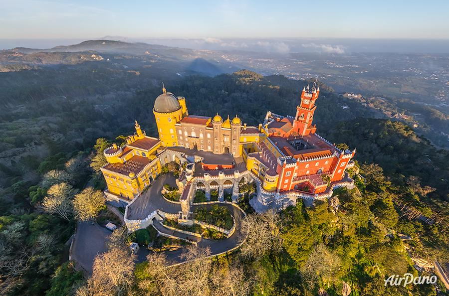 Pena National Palace. Sintra, Portugal, © AirPano