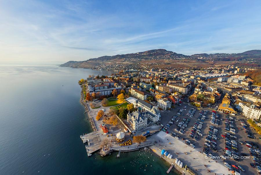 Aile Castle, Vevey, Swiss Riviera, © AirPano