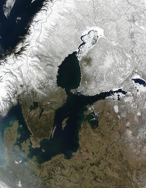 Burning Fires around baltic sea