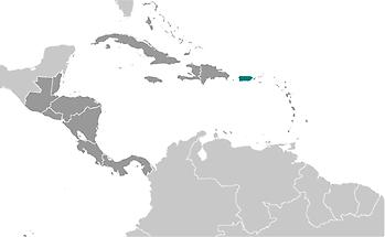 Puerto Rico in Central America and Caribbean