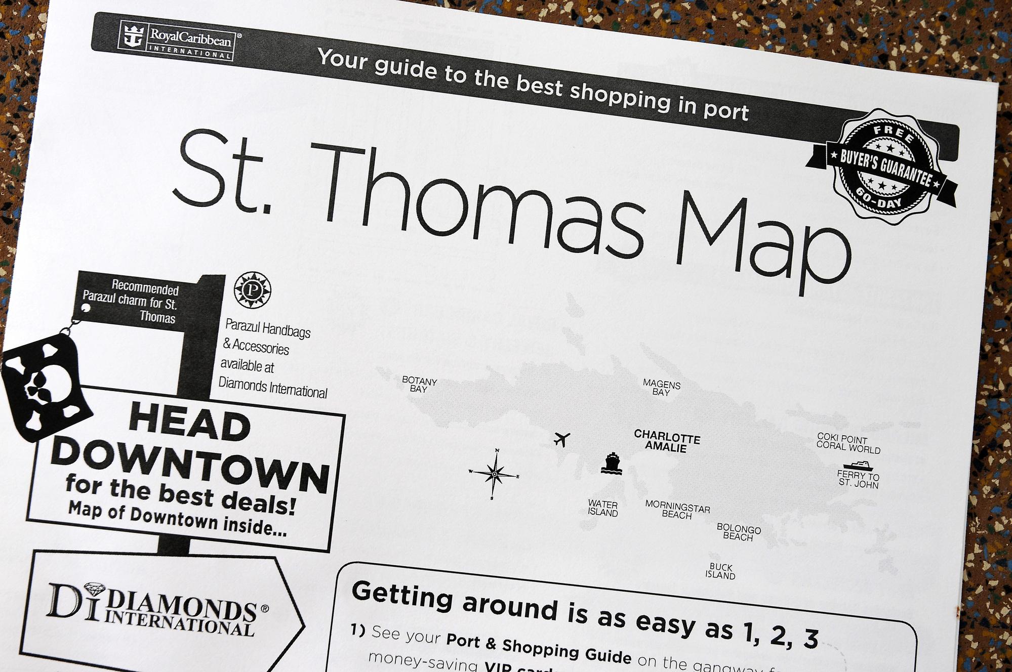 Charlotte Amalie - City Map (1) | St. Thomas (Virgin Islands ...