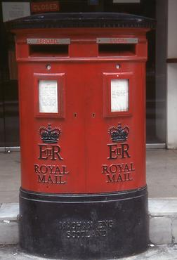 Typical British letter box