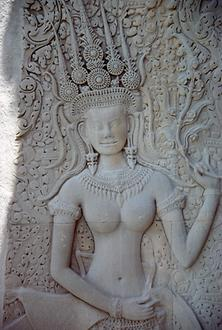 An Apsara, heavenly dancer, in Angkor Wat.