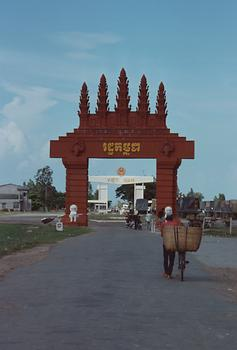 The border Cambodia-Vietnam.