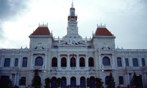 The old townhall of Saigon, todays Ho Chi Ming city