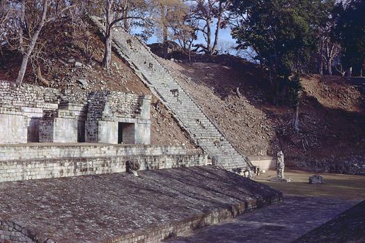 The ball court of Copán with structure STR 10L-10