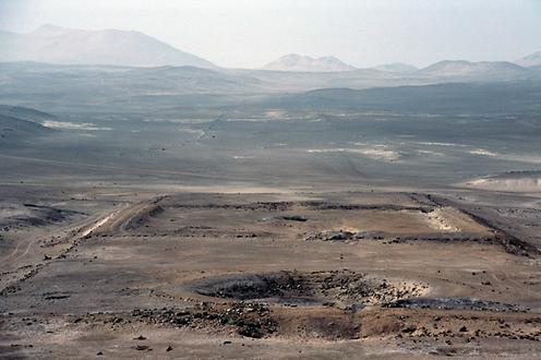 The lowered area in the image foreground is the circular cult site