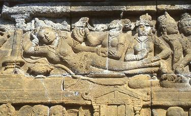 Collection of legends of Lalitavistara as relief