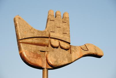 The open hand, the modern symbol of Chandigar