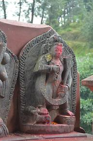 Bhairava who is accompanied by dogs