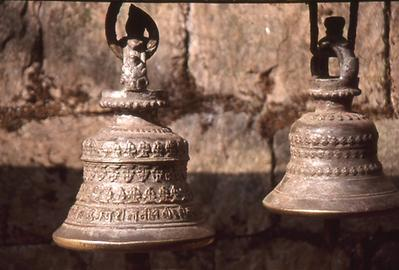"The gods are considered very human-like. When you approach them you can attract their attention by ringing the bells which has the meaning ""I am here! Listen to me!"""