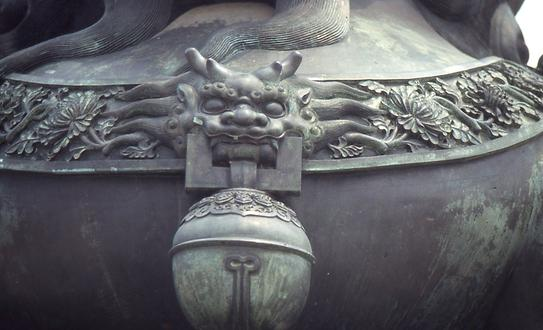 Bell and mask of a Qilin against harmful ghosts