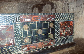 Reconstructed coffin with jade layer