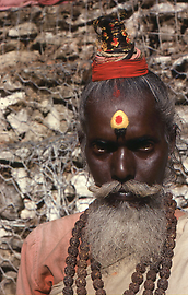 Sadhu coming from the South