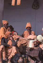 Community of Sadhus in Varanasi / Benares