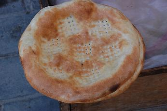 Decorated flatbread