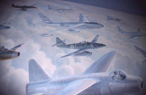 Wall painting - jet aircraft