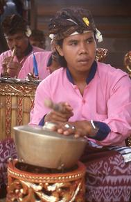Musician of a Gamelan orchestra